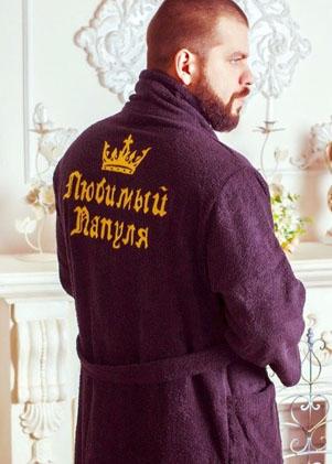 182b81622ebeb Купить мужской махровый халат с вышивкой в Краснодаре | Именные ...