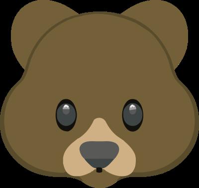 Рисунок для вышивки Смайлик медведь